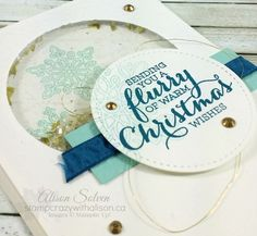 Flurry of WIshes Stamp Set  Stitched Shapes framelits dies #stampinup www.stampcrazywithalison.ca