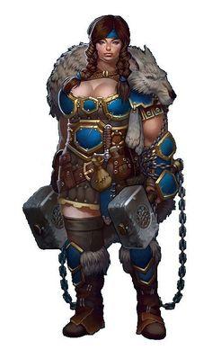 Female Dwarf Ranger or Barbarian