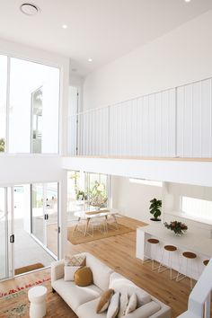 Funky Living Rooms, Coastal Living Rooms, Home And Living, Living Spaces, Dream Home Design, Home Interior Design, Interior Architecture, House Design, Australia House