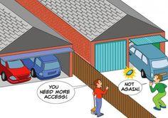 double car garage door width