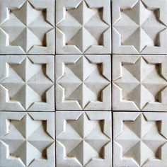 The La Terre Collection features Moorish inspired, hand-stenciled terra cotta tiles that evoke an old world look while maintaining a contemporary and versatile feel - handmade and painted tiles can be customized by ceramic studios Tabarka Tile, Mosaic Tiles, Wall Tiles, Tiling, Tile Patterns, Textures Patterns, Pattern Ideas, Noblesse, Moorish