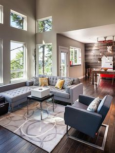 If You Like Neutrals, Try: Aluminum Gray  in New Ways to Use Fall's Trending Colors from HGTV