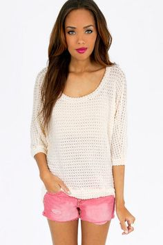 Softly Crocheted Top $44  http://www.tobi.com/product/50146-tobi-softly-crocheted-top?color_id=67146_medium=email_source=new_campaign=2013-05-21