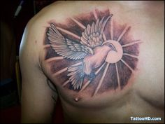 Chest tattoo (Bird)