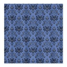 Haunted Wallpaper 23in Pattern FABRIC CURTAIN PANEL $44 Now you have no excuse -- you can decorate your walls for your Haunted Mansion Halloween party with the Haunted Mansion shower curtain 'wallpaper!'