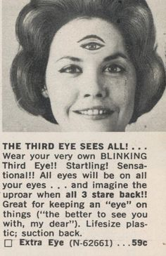 Madge figured if she could just get that third eye to wink at people she'd be the most popular gal at the dance.