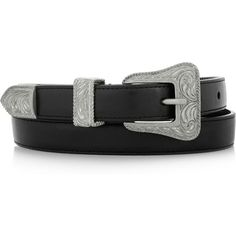 Saint Laurent Leather belt ($375) ❤ liked on Polyvore featuring accessories, belts, jewelry, cintos, filler, black, real leather belt, yves saint laurent belts, leather belt and black belt