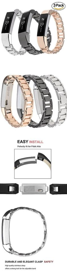 Fit Tech Parts and Accessories 179799: Stainless Steel 3Pk New Wristband Band Strap Bracelet For Fitbit Alta And Hr -> BUY IT NOW ONLY: $39.32 on eBay!