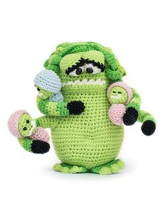 Monster Mama by Woolytoons in 'Amigurumi Monsters' book // Dim the lights, bring out your flashlight and quickly check underneath your bed: this new book will reveal the most adorable amigurumi monsters!