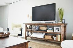 TV Stand Ideas Rustic and Refined