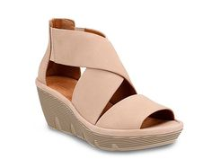 Women Clarene Glamor Wedge Sandal -Blush
