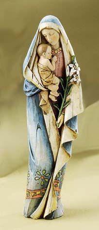 Slavic+Madonna+%26amp%3B+Child+with+Lily+Statue+%2840446%29+%2437.50
