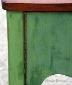 Another amazing color combination from CeCe Caldwell's all natural clay and chalk paint.  This color was created by mixing Spring Hill Green with Maine Harbor Blue ~ beautiful!  See how to get this great patina at http://alittlebitoshizzle.blogspot.com/2012/03/i-have-to-admit-i-have-thing-for-green.html