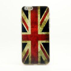 Funda de plastico para Iphone 6 estilo bandera de Reino Unido retro