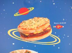 Reason I want to go to Disneyland Paris: Pizza burger at Pizza Planet. What?! This burger combines two American classics into one masterpiece of theme park cuisine lol