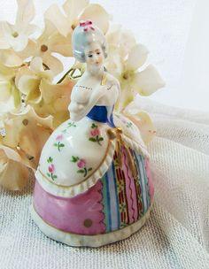 Rare Vintage 18th Century Court Lady Goebel Porcelain Perfume Bottle by Alyssabeths on Etsy