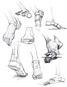 feet, simplified anatomy Sketches, Art, Croquis, Kunst, Draw, Sketch, Gcse Art, Sketching, Sanat