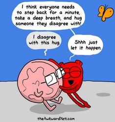 The Awkward Yeti: Photo Funny Cartoons, Funny Comics, Funny Memes, Hilarious, Heart And Brain Comic, The Awkward Yeti, Akward Yeti, You Make Me Laugh, Humor Grafico