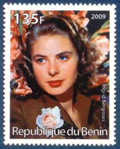 Republique de Cote D'Ivoire Stamp 2009 - Ingrid Bergman Swedish Actress