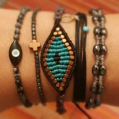 Old & new collections mixed together! #armparty #armcandy #macrame #hippie…