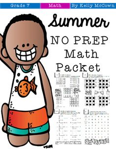 A Summer Math packet that your seventh graders will want to do every day of the summer! This packet is just plain fun. Not only is it PACKED with seventh-grade common core math problems, it also gives students fun coloring, puzzles, and problem solving.
