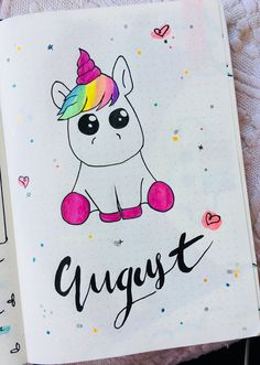 Bullet Journal Ideas August Unicorn Cover Bullet Journal Id. - Bullet Journal Ideas August Unicorn Cover Bullet Journal Ideas August Unicorn C - Bullet Journal Cover Ideas, January Bullet Journal, Bullet Journal Notebook, Bullet Journal Themes, Bullet Journal Spread, Journal Covers, Bullet Journal Inspiration, Journal Ideas, Doodle Drawing