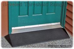 EZ Access beveled threshold ramp for wheelchairs and scooters.