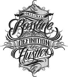 Bossline Clothing by Mateusz Witczak, via Behance | Lettering illustration for tshirt, Bossline Wear