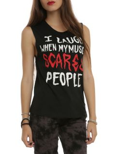 My Music Scares People Girls Muscle Top   Hot Topic