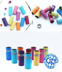 DIY Toilet Paper Roll Bowling Game (Haz tu propio juego de boliche con tubos de rollos de papel de baño reciclados) | Live Colorful