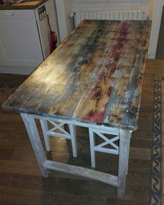 Table avec plateau  effet recup