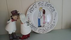 This is a smaller version of the larger engagement celebration plate and is 8
