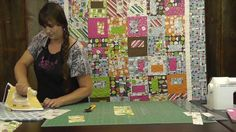 http://missouriquiltco.com -- Hillary (Jenny Doan's daughter) demonstrates how to make a quilt that her sister Natalie came up with many years ago, which she...