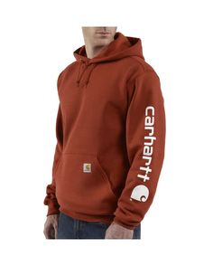 Carhartt Men's Midweight Hooded Logo-Sleeve Sweatshirt  http://www.countryoutfitter.com/products/25869-midweight-hooded-logo-sleeve-sweatshirt