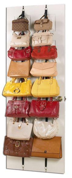 2 Racks Hanging Purse Handbag Bag Storage Over The Door Stand Organizer Closet in Home & Garden, Household Supplies & Cleaning, Home Organization | eBay