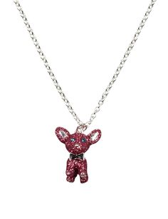 Pink Glitter Dog Necklace | Necklaces | Jewelry | Shop Justice