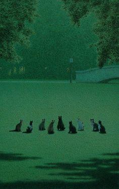 Quint Buchholz (German, b. 1957, Stolberg, Germany) - 1: The Cat's Assembly (Katzenversammlung), 1995