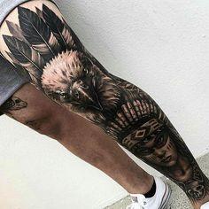 pescoço parte de trás tattoo tattoo tattoo calf tattoo ideas tattoo men calves tattoo thigh leg tattoo for men on leg leg tattoo Tattoo Calf, Knee Tattoo, Leg Sleeve Tattoo, Leg Tattoo Men, Best Sleeve Tattoos, Tattoo Sleeve Designs, Body Art Tattoos, Native American Tattoos, Native Tattoos