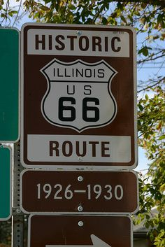 Illinois Road Signs--- Would love to have the opportunity to see this historical road that spans through several states!!