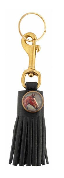 Tassel fobs are super hot for Fall - would love this on a grey bag!