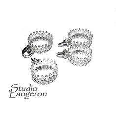 <b>925 Real Sterling silver</b> decorative shinny bead caps, bead cap ...