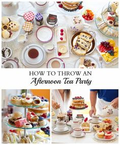 How to Throw An Afternoon Tea Party – tips and recipes for throwing the perfect afternoon tea party during the summer or the Christmas holidays. Includes an impressive layered cake, cupcakes and more. How to Throw An Afternoon Tea English Afternoon Tea, Afternoon Tea Recipes, Afternoon Tea Parties, Afternoon Tea Ideas Easy, Vintage Tea Parties, Vintage Party, Christmas Tea, Christmas Holidays, Tea Party Birthday