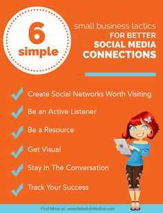 6 Simple Small Business Tactics You Can Use TODAY for Better Social Media Connections Social Media Strategy Plan, Social Media Trends, Social Media Marketing Business, Internet Marketing, Instagram, Simple, Public Relations, Branding, Business Tips