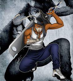 Naruto themed self-portrait commission done for he wanted himself as Zabuza! Black Cartoon Characters, Naruto Oc Characters, Superhero Characters, Cartoon Man, Samurai Drawing, Samurai Art, Anime Gangster, Character Art, Character Design