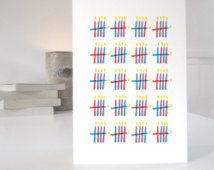 100th Birthday Card, minimalist design with 100 candles in two colourways