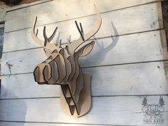 Декоративная голова оленя из фанеры на стену купить