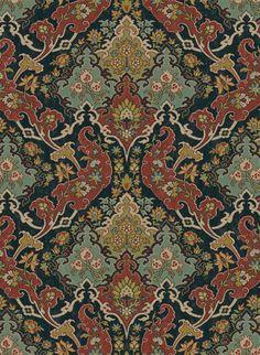 Klassisches Muster: Damask Tapete Pushkin Von Cole