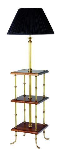F2-032 - Library Standard Lamp with 3 Cherrywood Tables