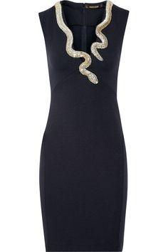 Roberto Cavalli | Embellished stretch-jersey mini dress | NET-A-PORTER.COM