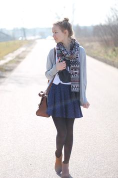 Pisane Miodem: PLEASE B-HAPPY Fall Outfits, Casual Outfits, Cute Outfits, Early Spring, Spring Time, Grey Cardigan, Material Girls, What I Wore, Passion For Fashion